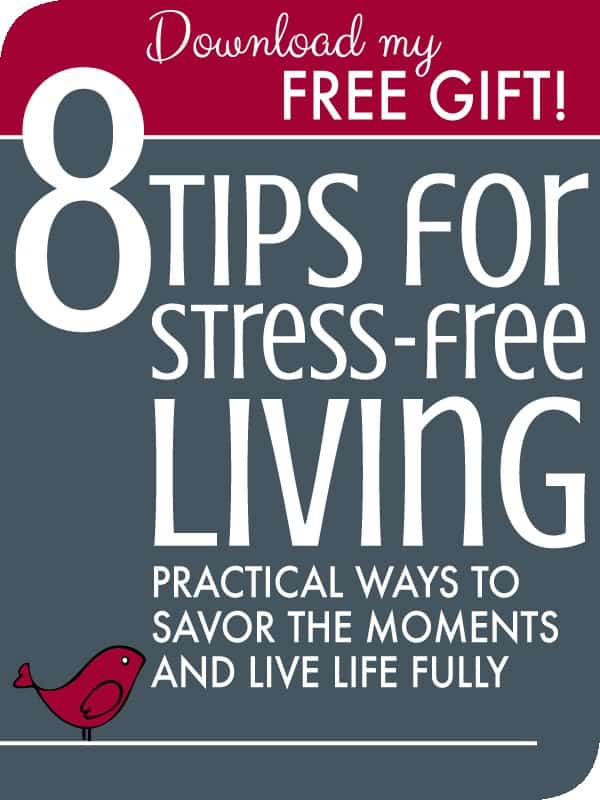 8 Tips for Stress-free Living: Practical Ways to Savor the Moments and Live Well. Free ebook download and printable on stress relief tips, ideas, remedies, and activities. DIY for moms and all women, at home or at work. Techniques for managing stress.