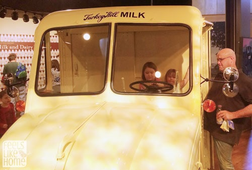 Driving a milk truck at the Turkey Hill Experience