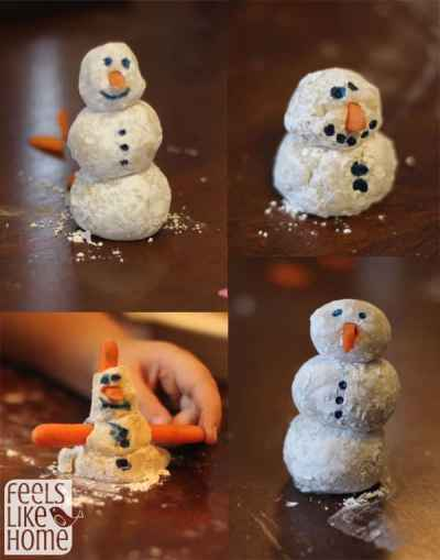 how to make marzipan snowmen