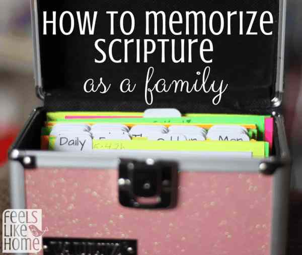 How to Memorize Scripture as a family using the Charlotte Mason method