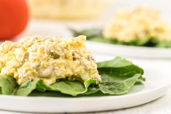 egg salad on a bed of bibb lettuce