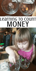 This is a simple activity to teach preschoolers the beginning skills to count money.