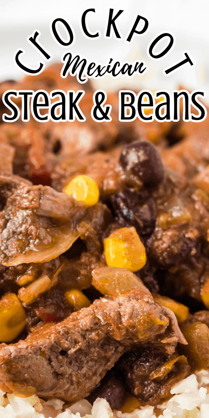 CrockPot Mexican Steak and Beans