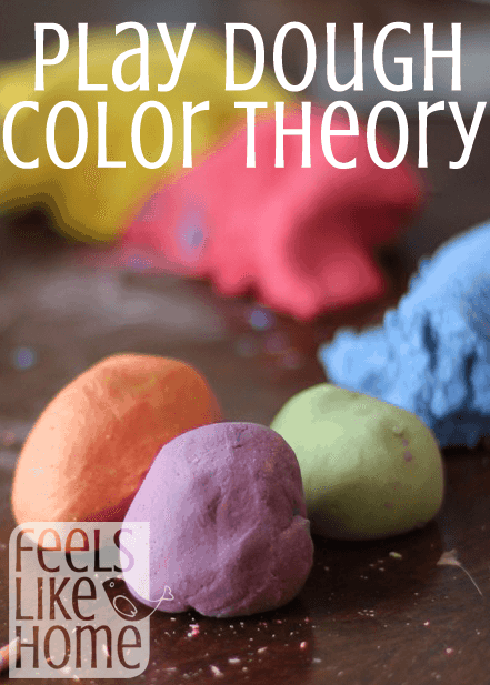 Homemade play dough in many colors