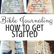 How to Get Started Bible Journaling – The Basics