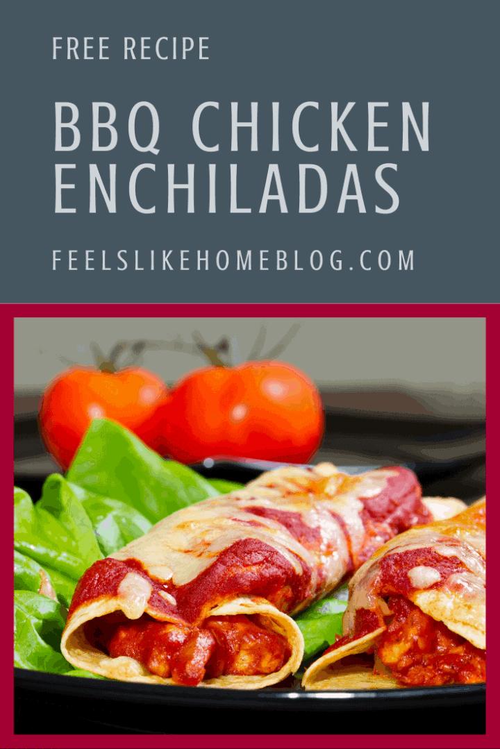 The Best BBQ Chicken Enchiladas