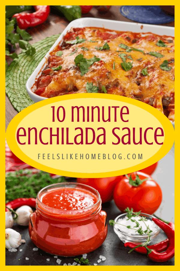 Enchiladas sitting on a table