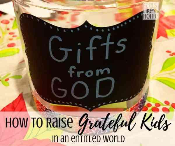A gratitude jar
