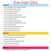 Date Night Questions for Married Couples or Boyfriends and Girlfriends -  These fun questions are great