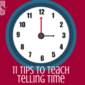 11 tips to teach telling time - Whether they are in kindergarten, first, 2nd, or 3rd grade, most early elementary kids are trying to figure out how to tell time. You will find activities, worksheets, and games for parents and teachers in this awesome post that includes how to tell time to the hour and minute. Teaching the clock has never been so easy or so much fun!
