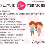 30 Ways to Help Siblings Get Along