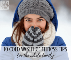 10 cold weather exercise tips for the whole family - You can workout with your kids all year long, even in the winter, whether you go outside or stay inside is up to you! Lots of tips, ideas, and suggestions here. If you plan ahead and wear the right clothes, you can have fun with your kids and stay strong and healthy all year.