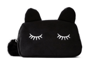 A sleep mask with cat ears