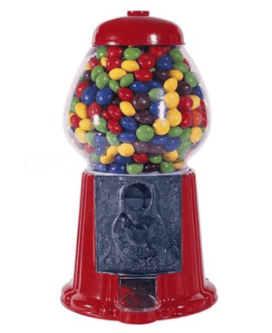 A gum ball machine