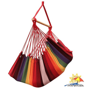 A hammock chair