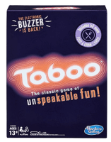 Taboo – This is really a 4+ player game, but we do it as a couple. You try  to get your partner to guess a word, but you can't say any of the ...