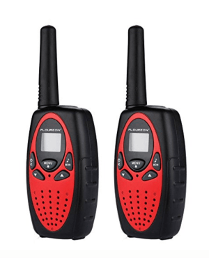 A close up of walkie talkies