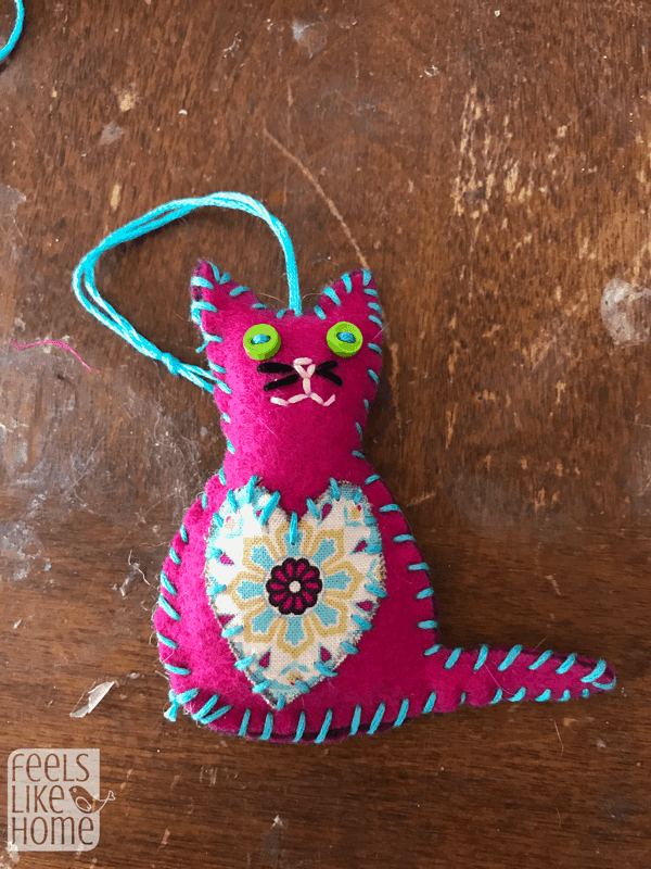 Felt Cat Ornament Diy Christmas Ornaments For Kids Free
