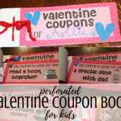 Free Printable Valentines Coupon Book for Kids