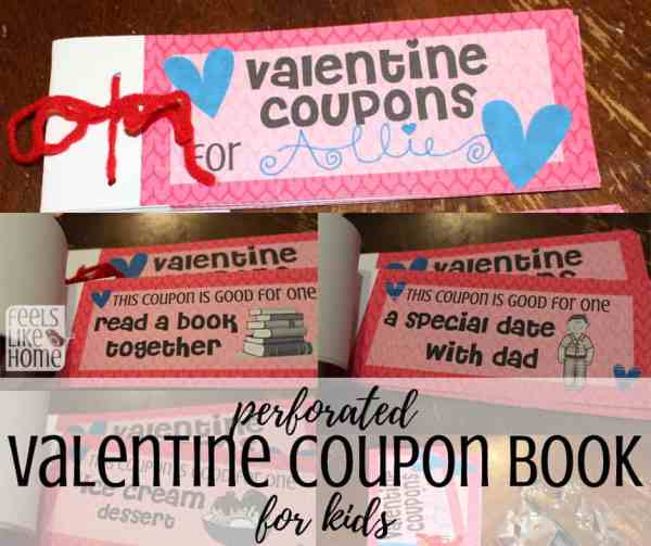 close up of DIY coupon books