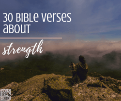 30 bible verses about strength - encouragement and motivation to go on in faith when times are hard. Great for struggle and healing in any situation - men and women, after a death, anxiety, depression, failing marriage, or sickness. You can be strong. Inspirational scriptures for life and purpose.