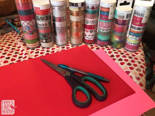 Washi Tape Heart Suncatchers Easy 10 Minute Craft For Kids Feels