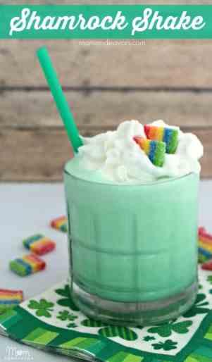 A mint green DIY shamrock shake
