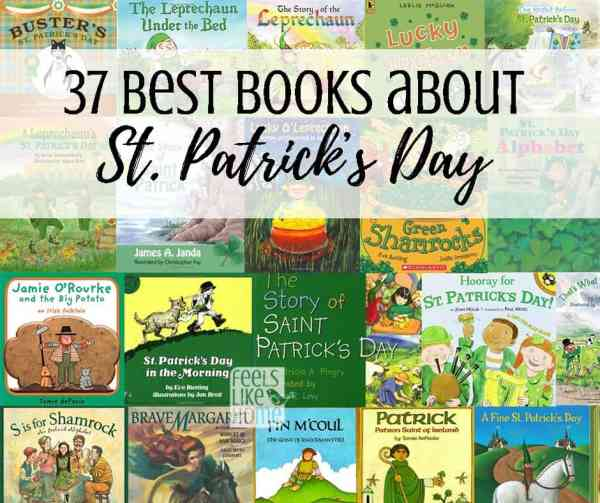 a collage of St Patrick\'s Day book covers
