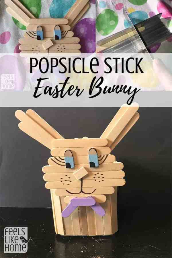 This Easter bunny craft is made of popsicle sticks and a small dollar store votive cup, making it the perfect cheap project for the spring. Not really for kids as the cutting and glueing are a little complicated. Best for adults and teens. This useful project is a DIY decoration and could be used as a pencil cup, candle holder, and more. Awesome easy ideas.