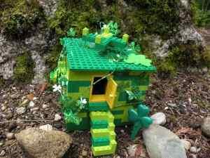 A leprechaun trap made from Lego
