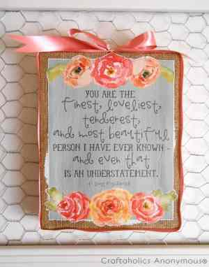 homemade Mother\'s Day poster