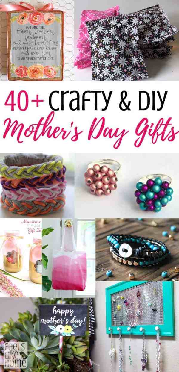 A collage of DIY Mother\'s Day gifts