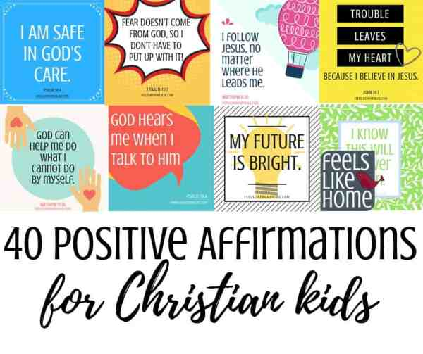 Collage of positive affirmations
