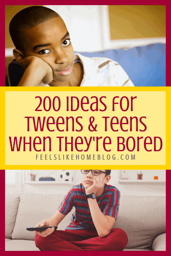 A bored teen sitting on a bed