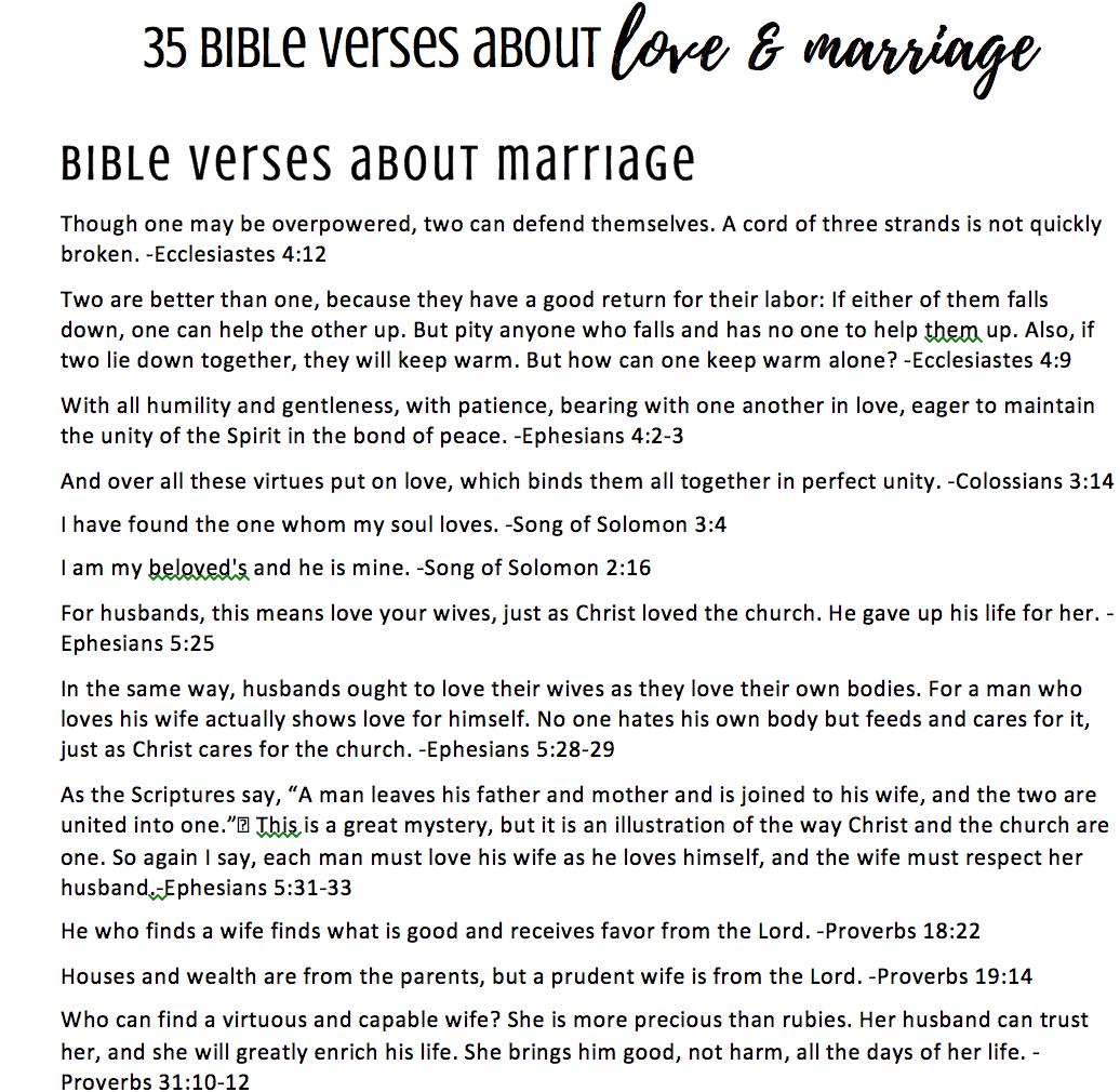 35 bible verses on love marriage printable feels like home