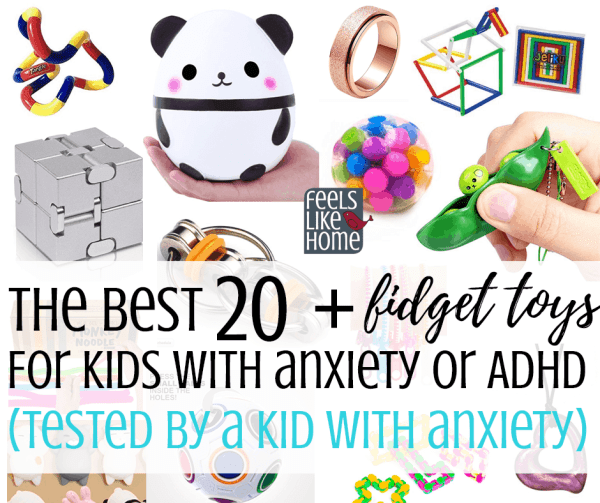 The best fidget toys for kids or teens with ADHD or anxiety - These calming toys are good for children and adults at home or at school. Most are quiet, silent even, so they can be used in preschool, in a traditional classroom, or any situation. Great way to calm down.