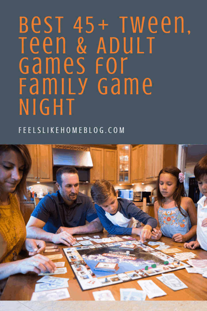 The Best 45+ Tween, Teen & Adult Games for Family Game Night