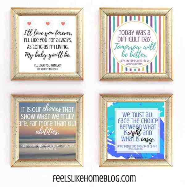 A collage of quote printable