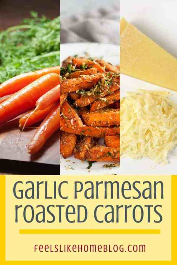 Roasted carrots, parmesan cheese, and raw carrots