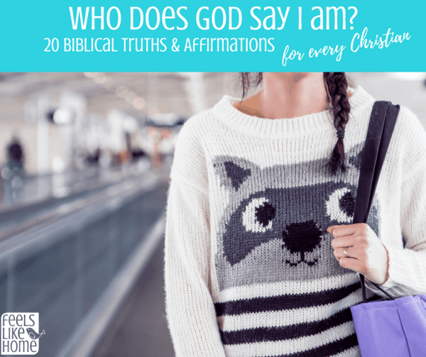 Who does God say I am? Who you are in Christ Jesus is not a secret. The Lord tells us in scripture many examples of characteristics from life and the Bible. These words are so true and helpful especially when your heart is heavy. Free printable.