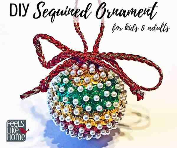 Simple Easy Diy Sequined Christmas Ornament Craft For Kids