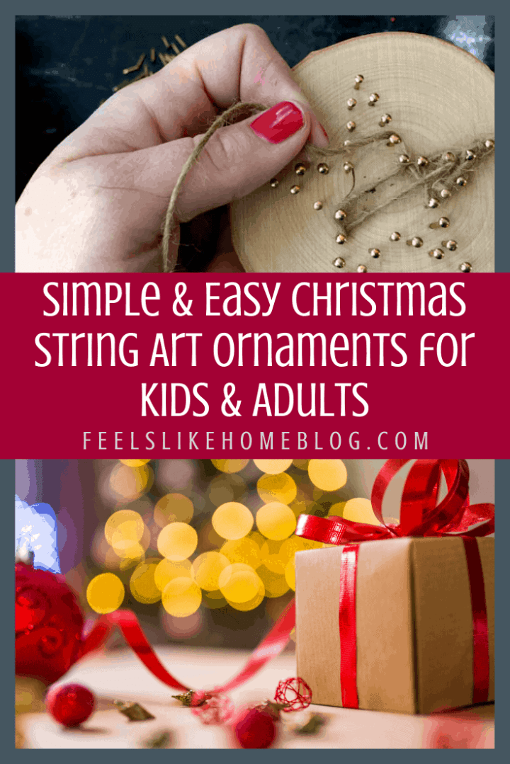 Simple & Easy Christmas String Art Ornaments for Kids & Adults