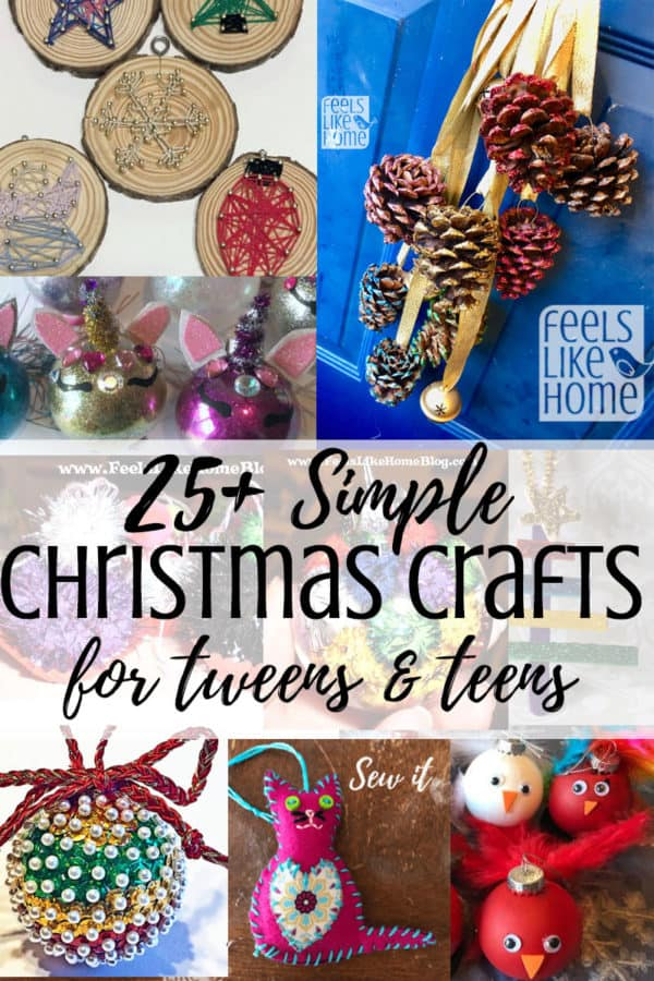 A collage of Christmas crafts for teens