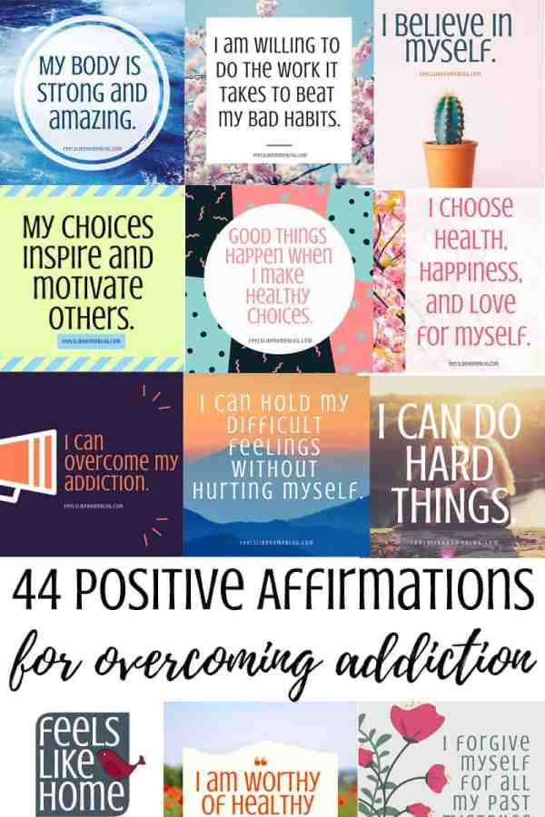 Find hope & strength - 44 positive affirmations for defeating temptation and overcoming addiction - You will find tons of encouragement and inspiration for recovery and making healthy decisions and choices in these 44 printable positive affirmations cards for kids, teens, and adults. Calm, peaceful thoughts, these inspiring words will expose the truths of our power in a repeatable way.