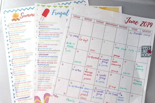 Intentional Summer Planner - Calendar and printables