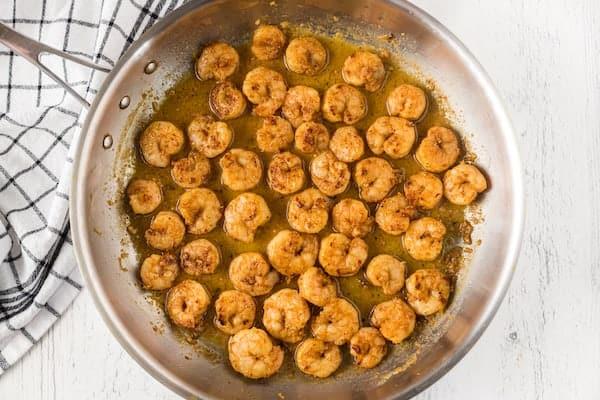 sauteed cajun shrimp in scampi sauce
