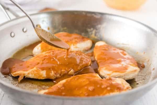 peanut sesame sauce over chicken