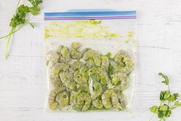 cilantro lime marinated shrimp