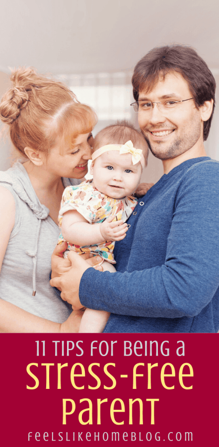 happy parents with a baby