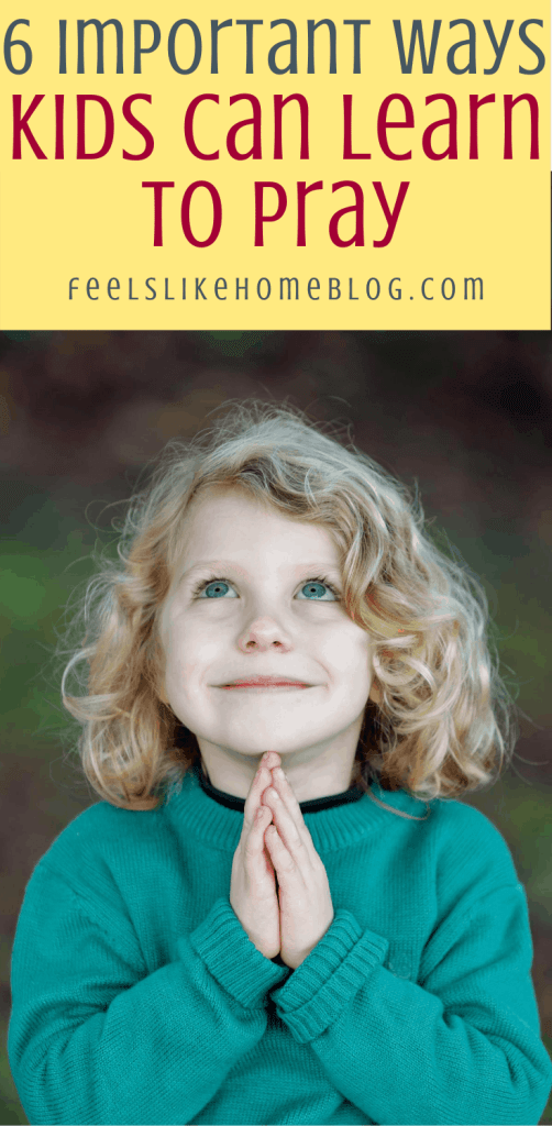 a girl learning to pray